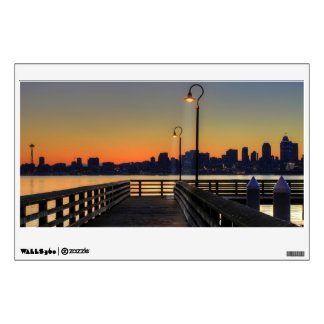 Seattle Washington Downtown Skyline Room Graphic