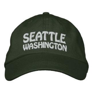 SEATTLE, WASHINGTON EMBROIDERED BASEBALL CAPS