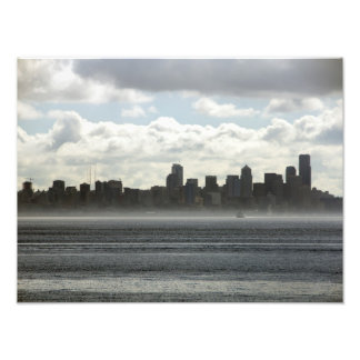 Seattle Washington from the Puget Sound - 2014 Photo Print