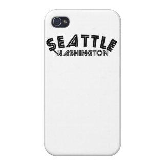 Seattle Washington iPhone 4 Cárcasa