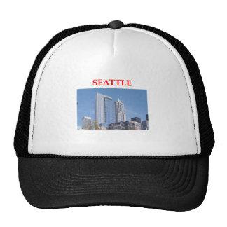 seattle washington mesh hat