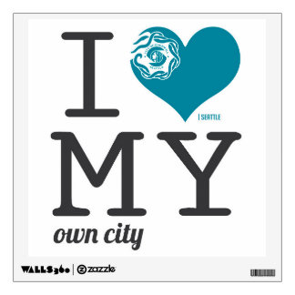 Seattle Washington I love my own city Wall Decal