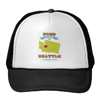 Seattle, Washington Map – Home Is Where Hats