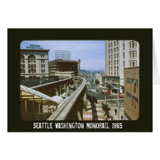 Seattle Washington Monorail 1965 Card