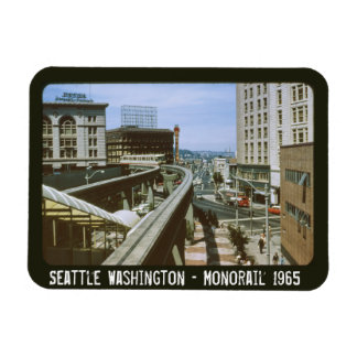 Seattle Washington Monorail 1965 Magnet