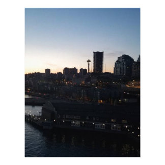 Seattle Washington Night Sky Letterhead
