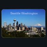 "Seattle Washington picture Magnet<br><div class=""desc"">Seattle Washington on a beautiful clear day</div>"