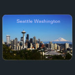 "Seattle Washington picture Magnet<br><div class=""desc"">Seattle Washington on a beautiful clear day</div>"