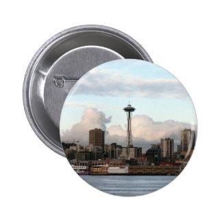 Seattle Washington Pin Redondo De 2 Pulgadas