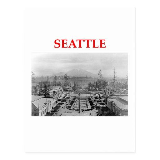 seattle washington postcards