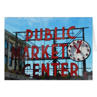 Seattle Washington Public Market Gifts Greeting Card