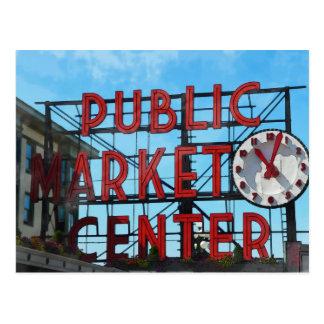 Seattle Washington Public Market Gifts Postcard
