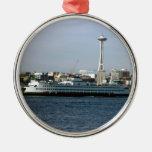 Seattle Washington Round Metal Christmas Ornament