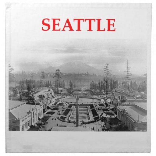 Seattle Washington Servilletas Imprimidas