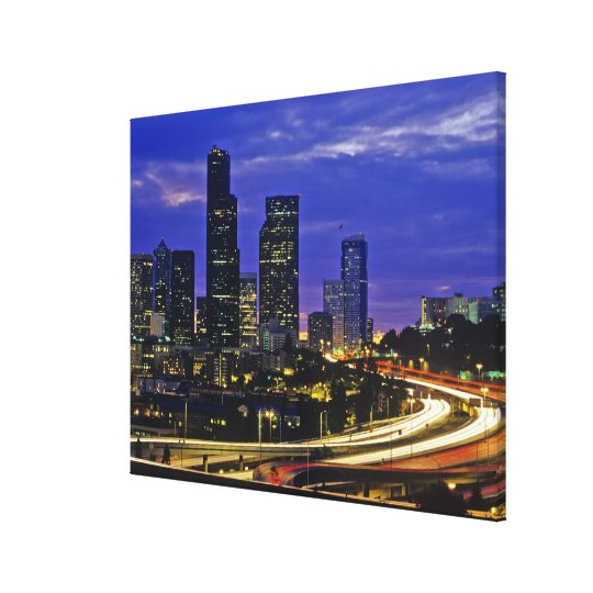 Seattle, Washington skyline at night Canvas Print