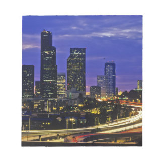 Seattle, Washington skyline at night Notepad