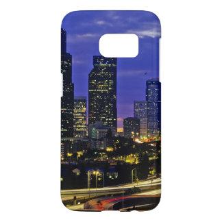 Seattle, Washington skyline at night Samsung Galaxy S7 Case
