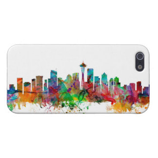 Seattle Washington Skyline Cover For iPhone SE/5/5s