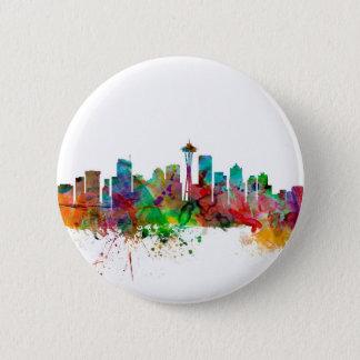 Seattle Washington Skyline Pinback Button