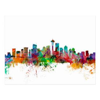 Seattle Washington Skyline Postcards