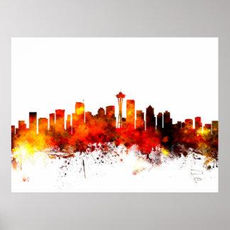 Seattle Washington Skyline Posters