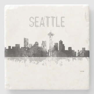 SEATTLE WASHINGTON SKYLINE -Stone Drinks Coaster