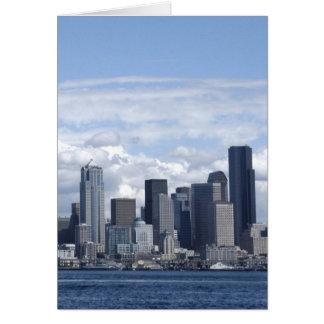 Seattle Washington Skyscrapers Card