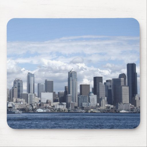 Seattle Washington Skyscrapers Mouse Pad