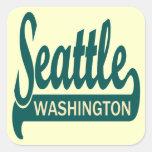 Seattle, Washington Square Stickers