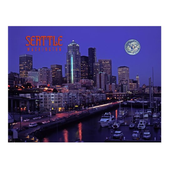 Seattle,Washington,state Postcard