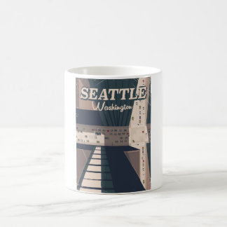 Seattle, Washington state Travel poster Coffee Mug