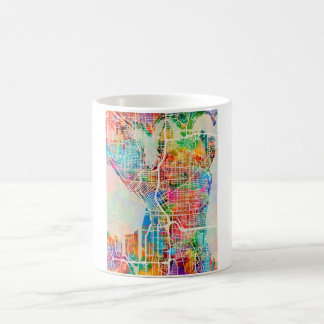 Seattle Washington Street City Map Coffee Mug