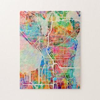 Seattle Washington Street City Map Jigsaw Puzzle