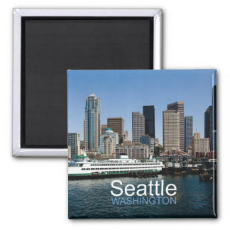 Seattle Washington Travel Photo Souvenir Magnet