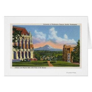 Seattle, Washington - University of Washington Greeting Card