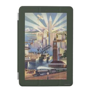 Seattle, Washington - vista del centro de la Cover De iPad Mini