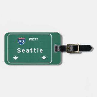 Seattle Washington wa Interstate Highway Freeway : Bag Tag