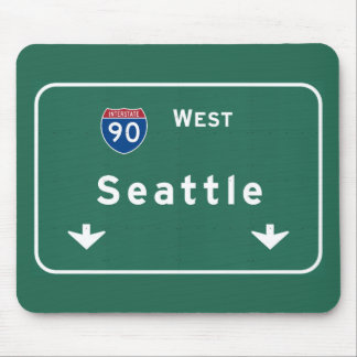 Seattle Washington wa Interstate Highway Freeway : Mouse Pad