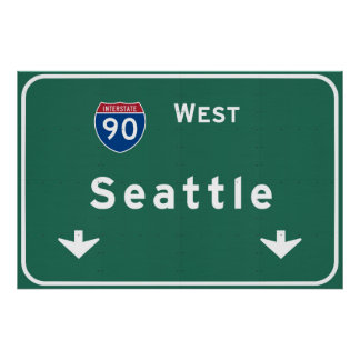 Seattle Washington wa Interstate Highway Freeway : Poster