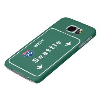 Seattle Washington wa Interstate Highway Freeway : Samsung Galaxy S6 Case