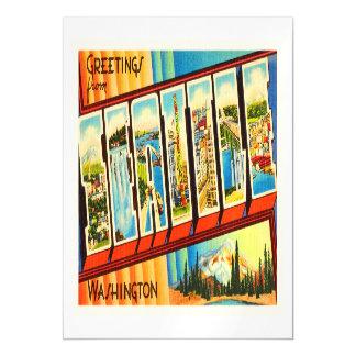Seattle Washington WA Old Vintage Travel Souvenir Magnetic Card