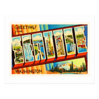 Seattle Washington WA Old Vintage Travel Souvenir Postcard