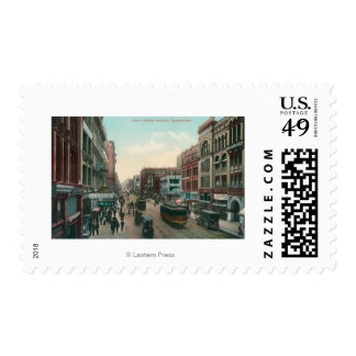 Seattle, WashingtonAerial View of First Avenue Postage