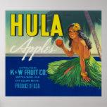 Seattle, WashingtonHula Apple Label Print