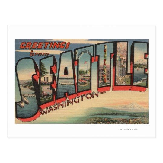 Seattle, WashingtonLarge Letter Scenes 2 Postcard