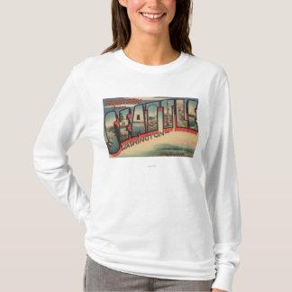 Seattle, WashingtonLarge Letter Scenes 2 T-Shirt