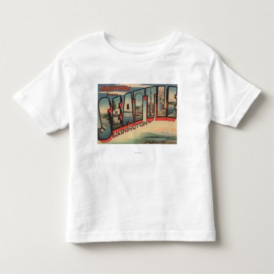 Seattle, WashingtonLarge Letter Scenes 2 Toddler T-shirt