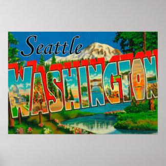 Seattle, WashingtonLarge Letter Scenes 3 Print