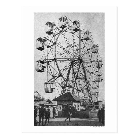 Seattle, WashingtonYukon-Pacific Expo Ferris Postcard