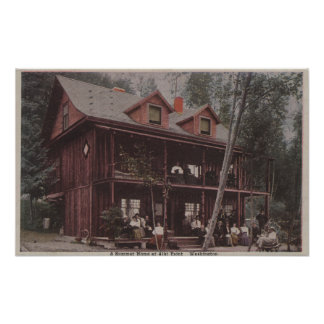 Seattle, WASummer Home at Alki Point Beach Poster
